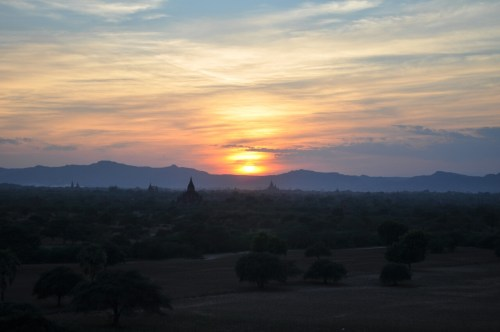 coucher soleil Bagan 2