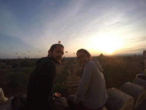 lever du soleil Bagan 2