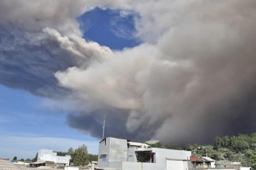 Berastagi eruption Gunung Sinabung 2