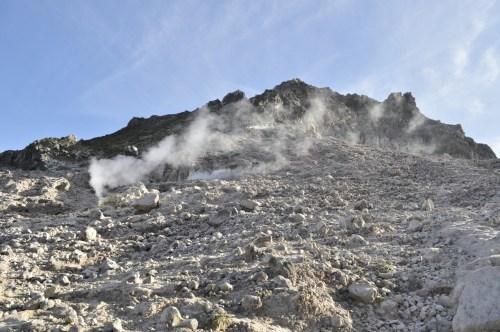 Berastagi fumeroles Gunung Sibayak