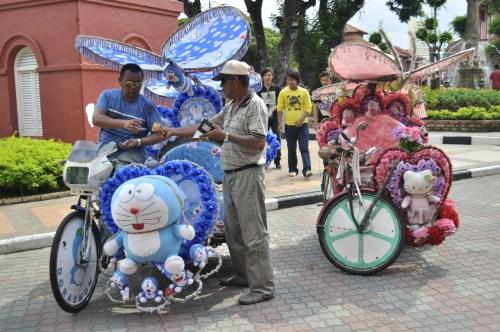 Melaka trishaws2
