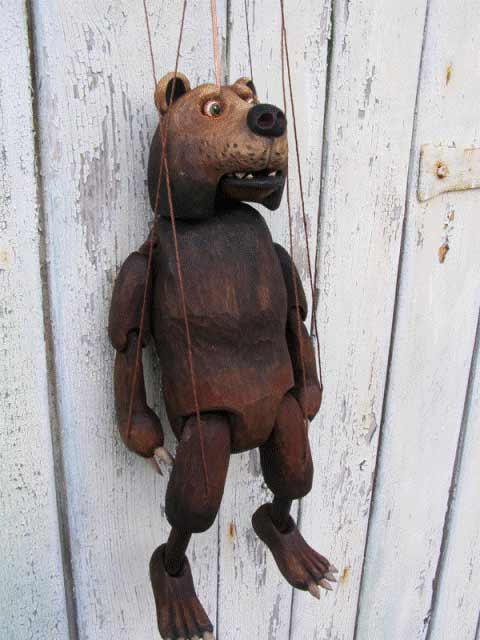 Buy Bear Wood Marionette Puppet Online Size 18 Code