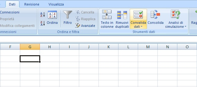 excel menu tendina