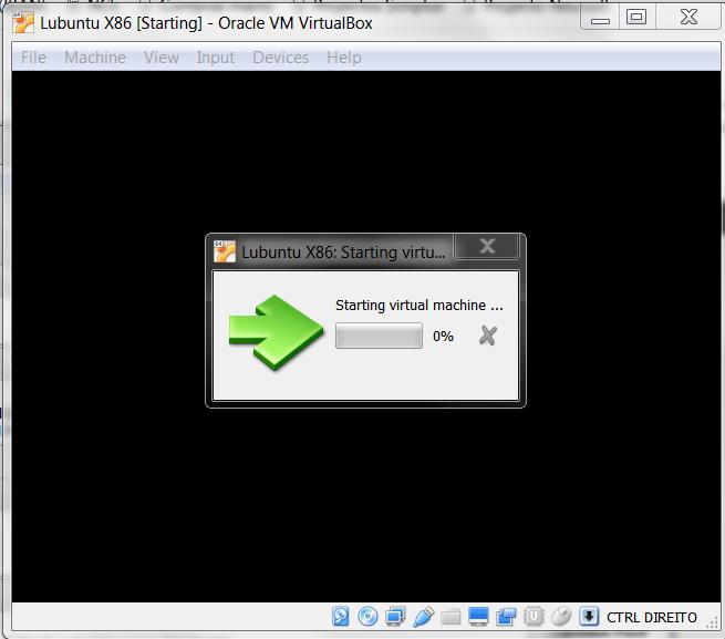 Lubuntu starting