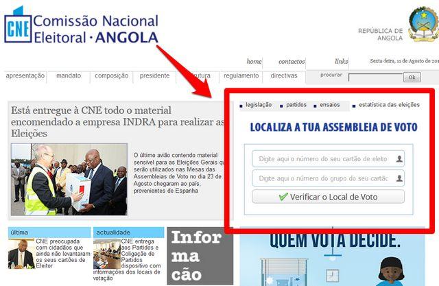 form www.cne.ao