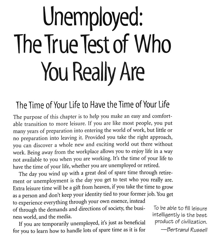 unemployed the true test