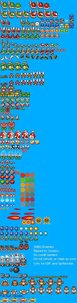 Super Mario Bros 3 Sprite Sheets Snes Mario Universe Com