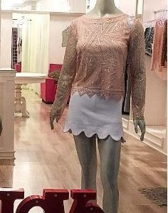 Blusa Paetês - Rosé - Mariquinha