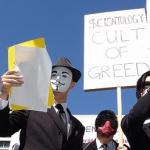Perth Anonymous protesting against Scientology in 2008 (c) Perth Anonymous
