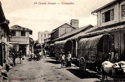 4th Cross Street Pettah, Colombo 1890-1910 provided by Lankapura via Flickr