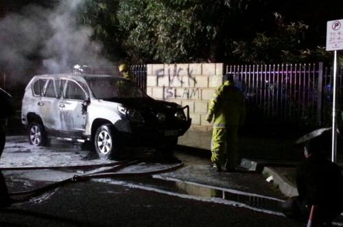 Photo of car outside Thornlie Mosque in Perth. (c) Yahya Adel Ibrahim