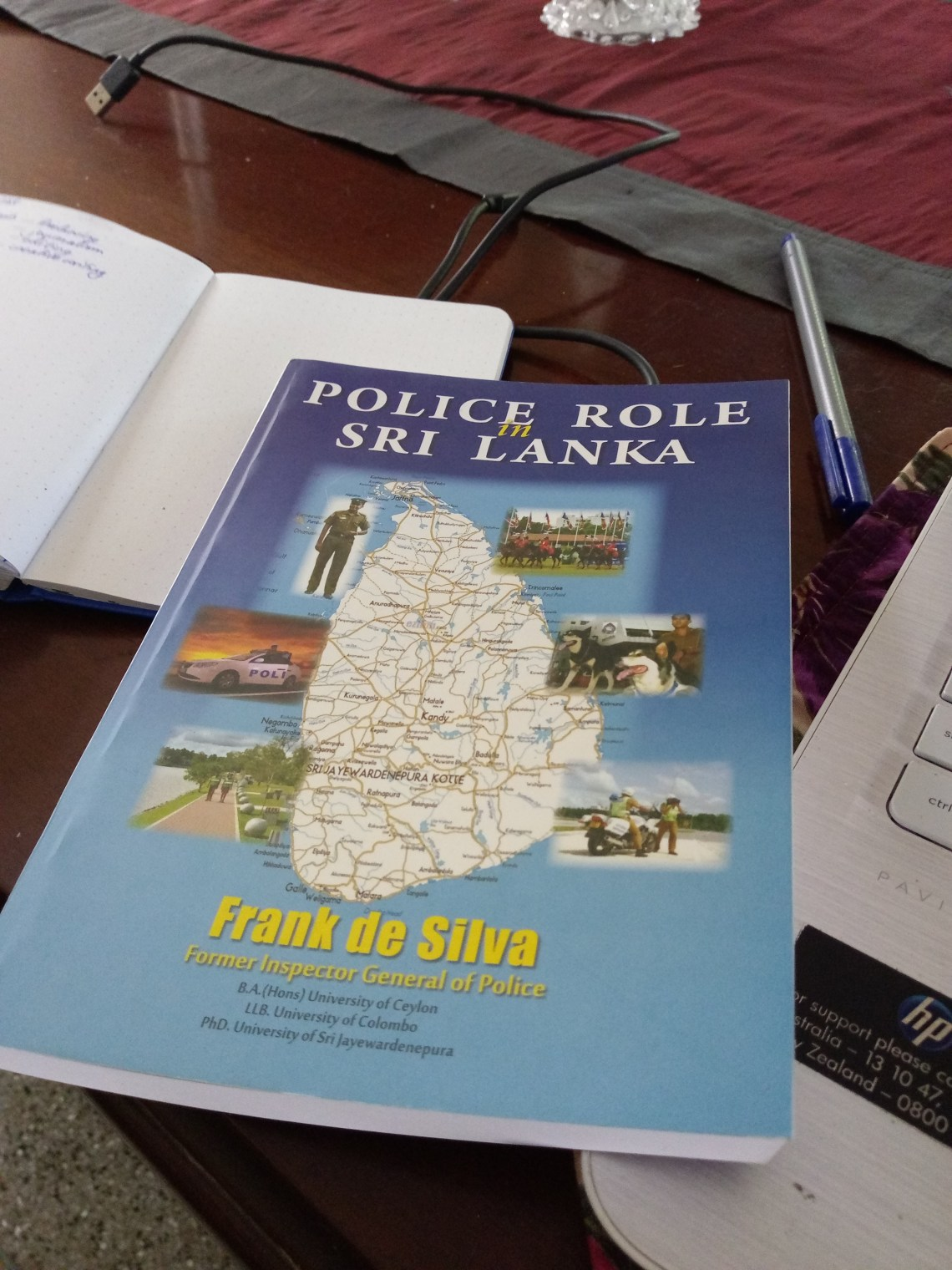 Latest piece of research for the foundation fellowship: the book titled Police in Sri Lanka by Frank de Silva