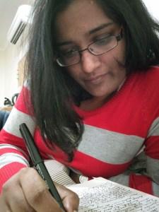 Marisa Wikramanayake writing at KSP (c) Marisa Wikramanayake
