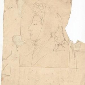 A-094 – Vrouw met sjaal potlood s. J.Maris 237×199
