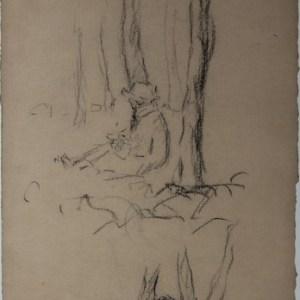 A-098 – Zittende man tegen boom