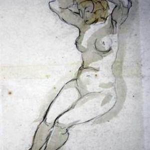 C-084 – Zittend vrouwelijk naakt 5