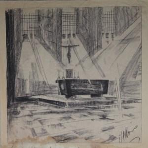 D-056 – 1958 Ontwerp altaar zou Afferden L. zijn (2)