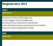 blogkalender bedrijfsblog
