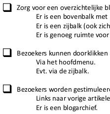 checklist corporate blog