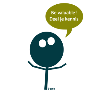 Be valuable! Deel je kennis
