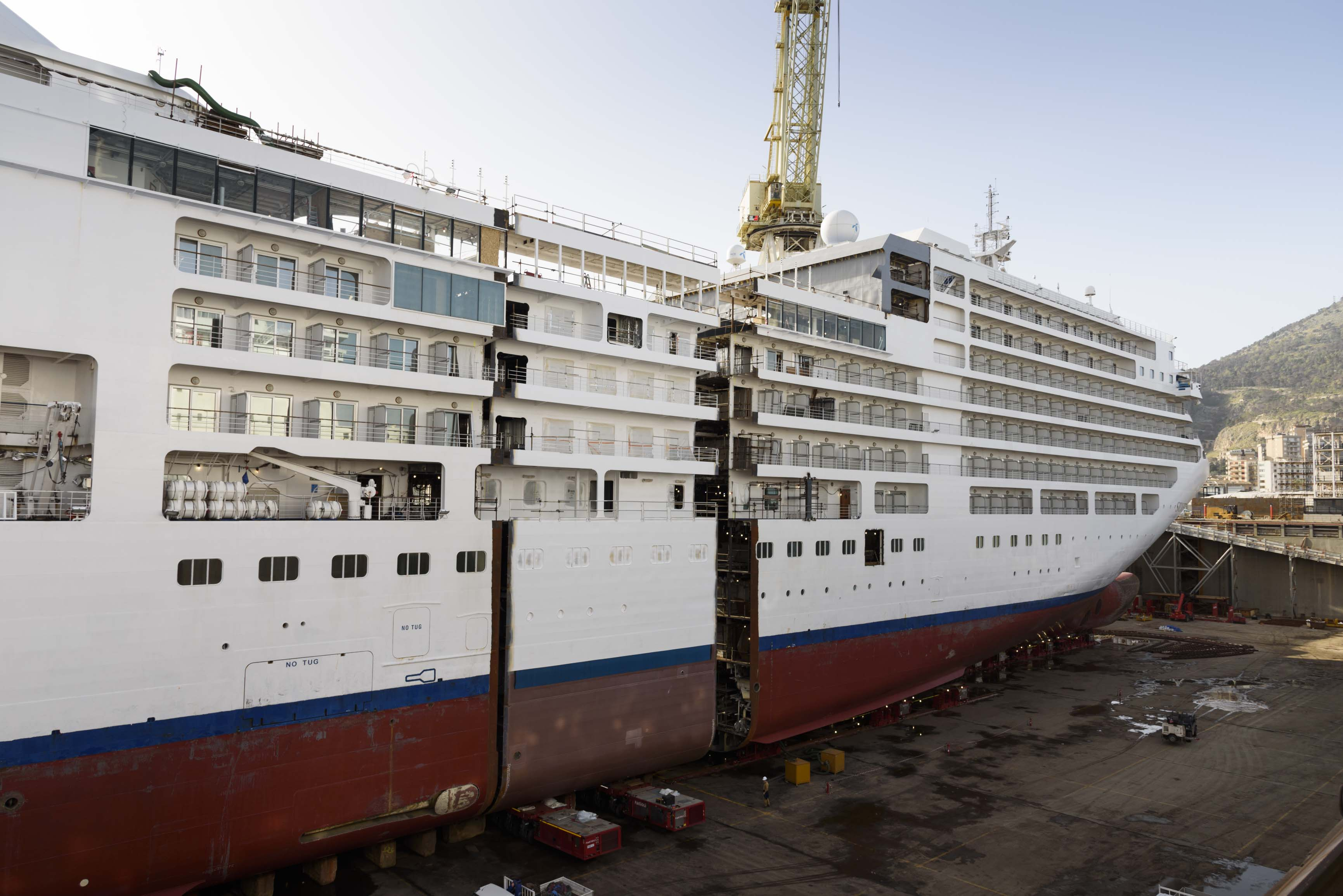 Photos First Ever Luxury Cruise Ship Lengthening