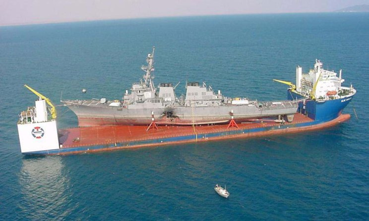 M/V Blue Marlin Heavy Lift Vessel carrying USS Cole