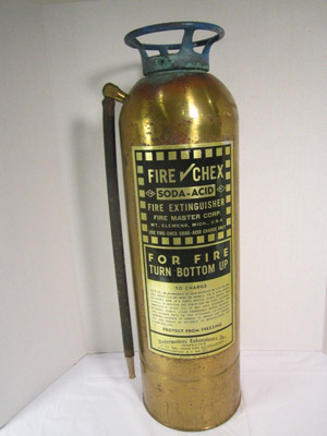 Soda Acid Extinguisher - Types of fire extinguishers used on ships