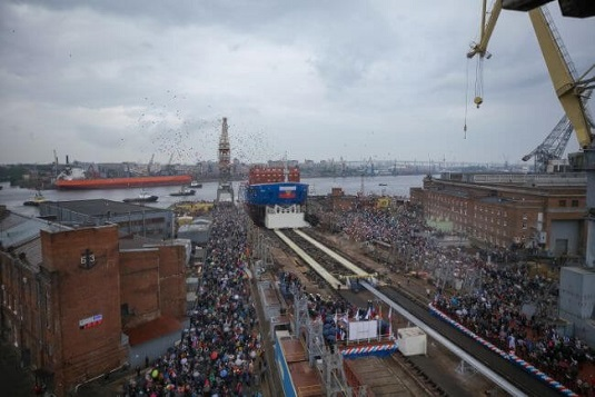 ROASTOM Launches The World's Largest Nuclear Powered Ice Breaker 'URAL' 1