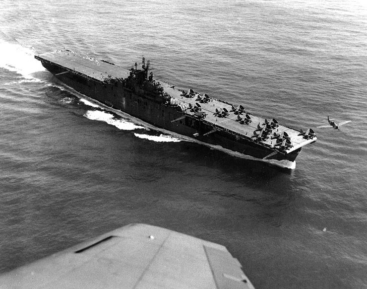 USS Yorktown launching her airgroup.