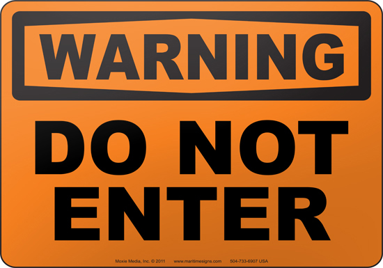 Afbeeldingsresultaat voor do not come in