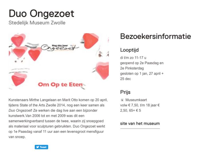 Stedelijk museum Zwolle & Duo Ongezoet