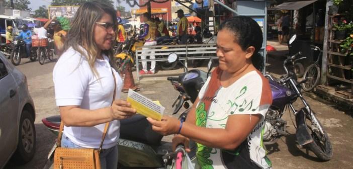 Em Marituba, campanha contra hanseníase orienta em feiras