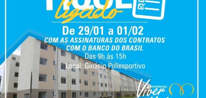 Assinatura dos Contratos com o Banco do Brasil – Residencial Viver Melhor Marituba