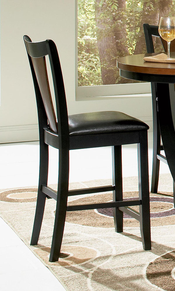Boyer 5 Piece Counter Height Dining Set In Black And