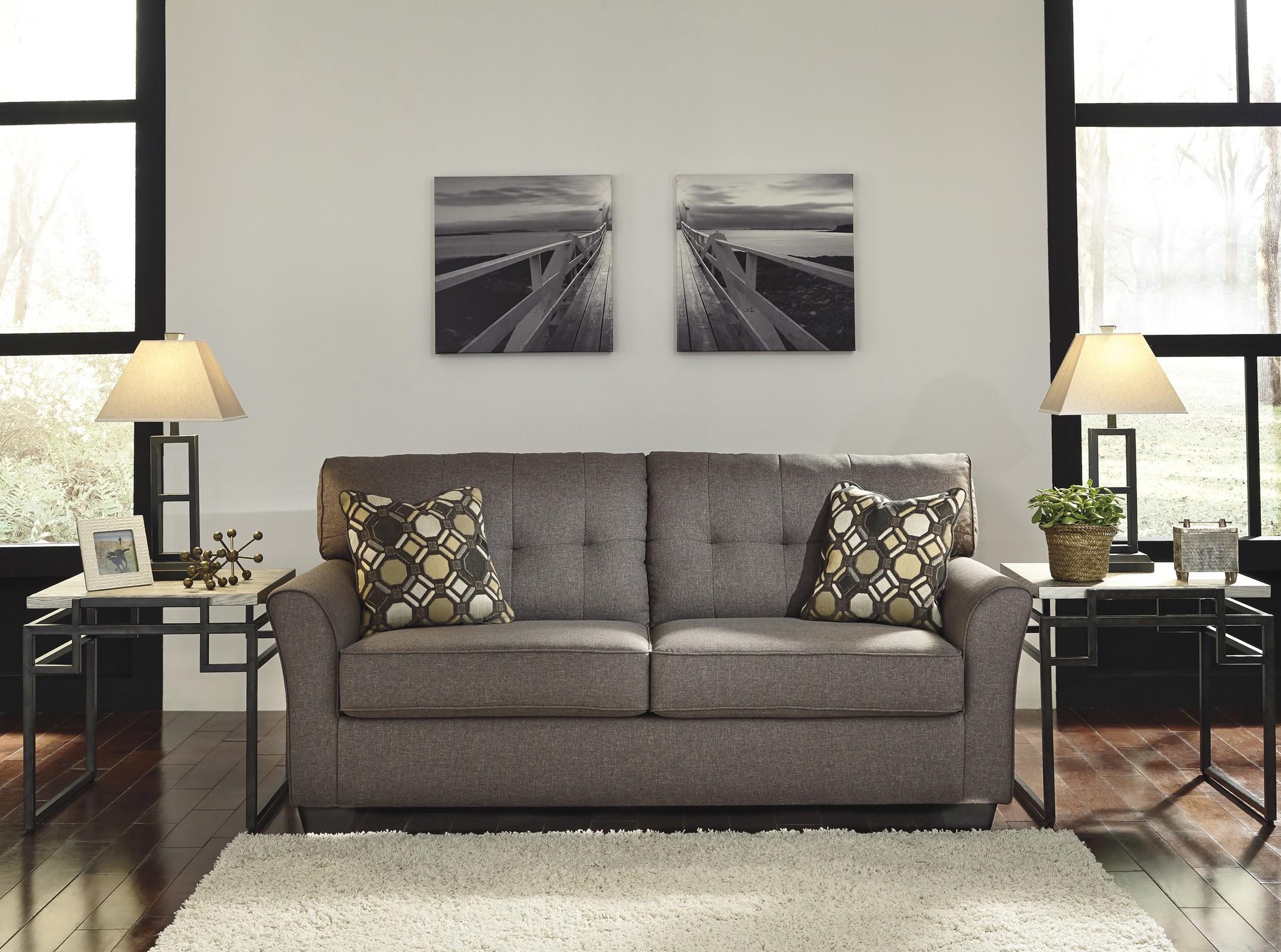 Ashley Furniture Tibbee Slate 2pc Living Room Set FREE