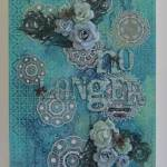 Mixed Media Canvas with Gina's Designs and MD Metal Sheet