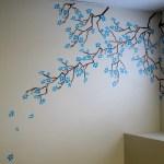 Cherry Blossom Stencil Wall Art