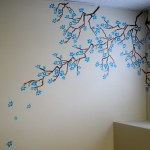 Cherry Blossom Stencil Wall Art