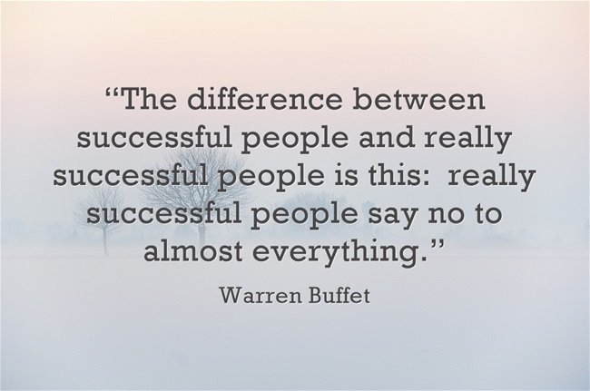 Great advice from Warren Buffet