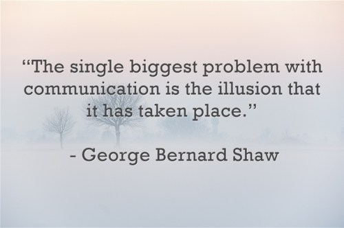 The single biggest problem with communication