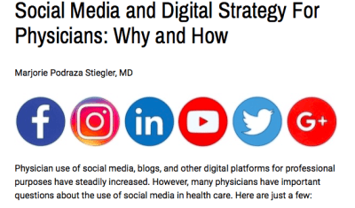social media for physicians and how doctors can stay safe online