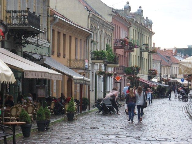 Old Town Kaunas in the rain