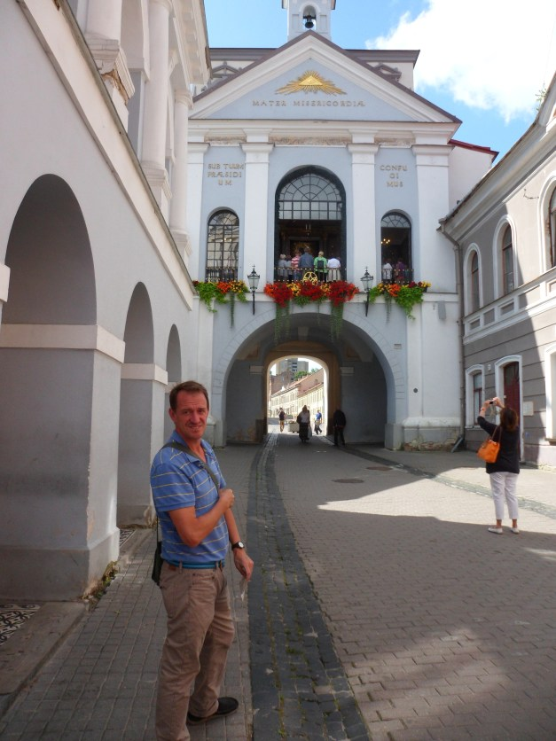Mark, having just entered the Old City through the Gate of Dawn, the only remaining gate through the old wall