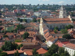 Across the rooftops of Vilnius from the Upper Castle
