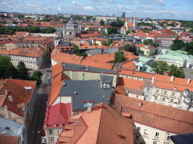 Vilnius, from the top of a bell tower at the University