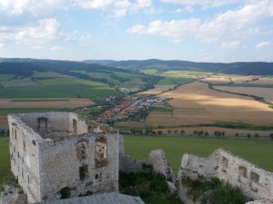 The sweeping views from the castle