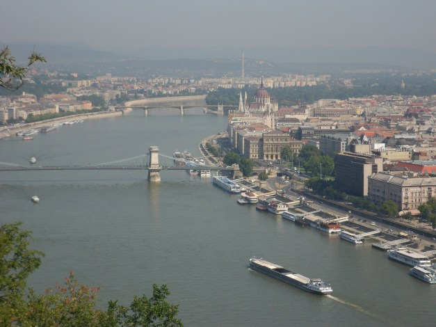 A view of Pest and the Danube, from Gellért Hill