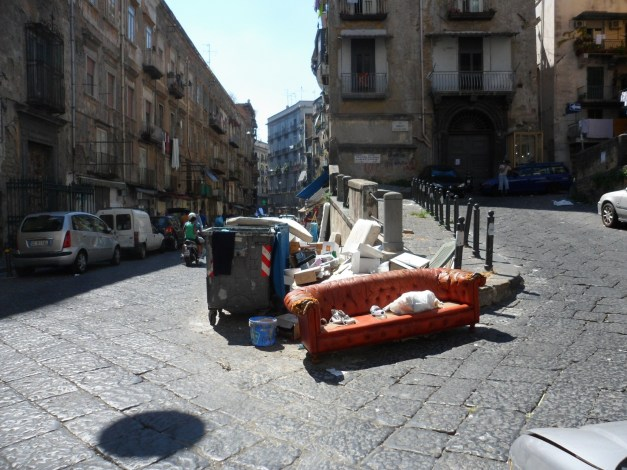 There is trash everywhere in Naples - probably the filthiest city I've ever seen