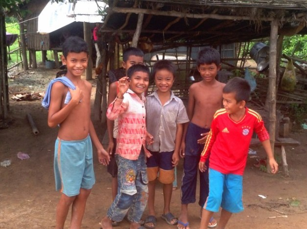 I met these kids while biking outside of Battambang. They had a bug that they were very happy with.