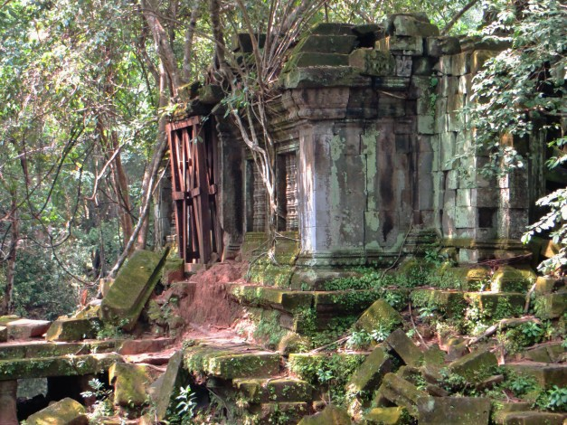 A library at Beng Mealea. My guide tells me that Pol Pot blew up what was left of these 12th century ruins in search of gold. Apparently he didn't find any.
